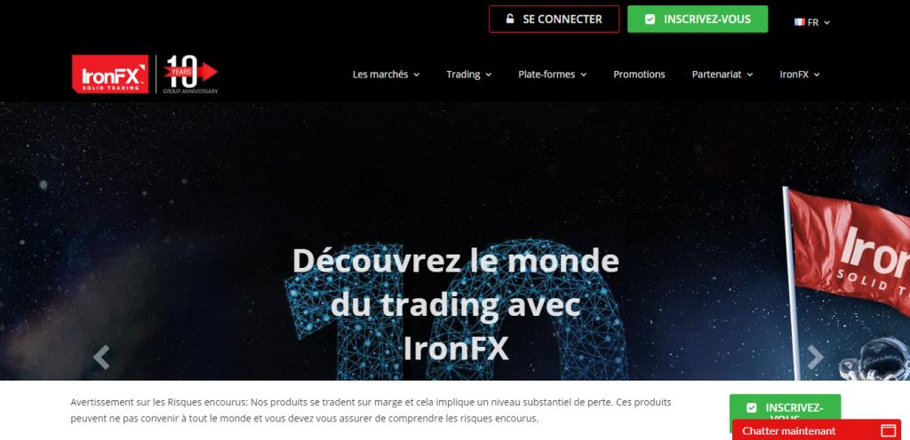 interface ironfx
