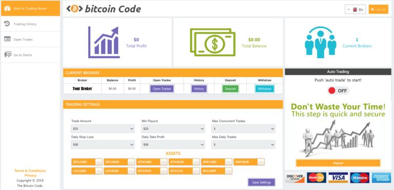 bitcoin code avis live trading